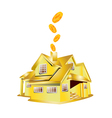 Gold house vector