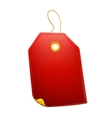 Red gift tag vector