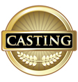 Casting gold label vector