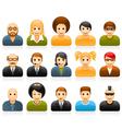 Glossy people avatar vector