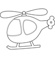 Cartoons helicopter vector