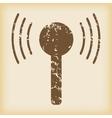 Grungy signal icon vector
