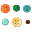 Clothing buttons vector