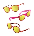 Hipster sunglasses set vector