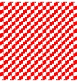 Seamless geometric pattern red color vector