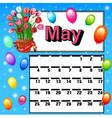 Calendar for may mothers day f vector