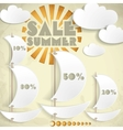 Summer sale business background vector