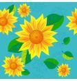 Sunflower seamless vector