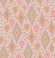 Simless pattern with geometric elements and hearts vector