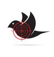 Image of bird target vector