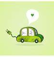 Hand drawn green car vector