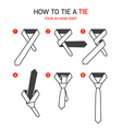 How to tie a tie instructions vector