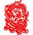 Lion dance vector