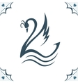 Stylized swan vector