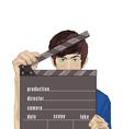 Flash guy cartoon vector