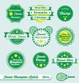 Tennis labels vector