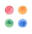 Colorful hand painted circle shape design elements vector