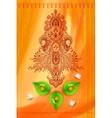 Goddess durga against watercolor background vector