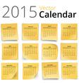 Stiky calendar vector