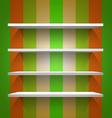 Empty white shelves vector