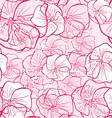 Abstract flowers seamless texture vector