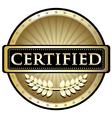 Certified gold emblem vector
