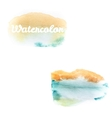 Watercolor art hand paint on white eps 10 vector