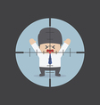 Businessman in the rifle sight vector