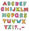 Font a to z alphabet vector