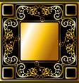 Gold frame ornament vector