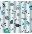 School pattern on striped background vector