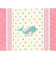 Baby card with dolphin toy vector