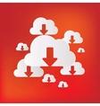 Cloud download application web icon vector