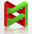 Impossible figure icon sign vector
