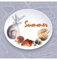 Background with marine motifs vector
