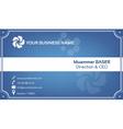 Creative blue business card vector
