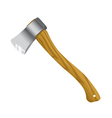 Axe with wooden handle vector
