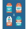 Flat design sale tags set vector