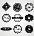 Vintage coffe labels vector