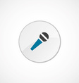 Microphone icon 2 colored vector