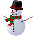 Snowman isolate vector