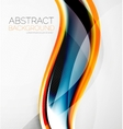 Wave abstract layout design vector