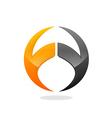 Round arch technology logo vector