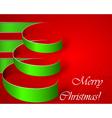 Green stripe christmas tree eps10 vector