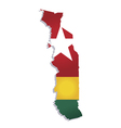 Togo africa map flag vector