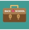 Big brown schoolbag briefcase flat design style vector