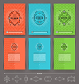 Set of abstract template flyer page design with vector