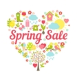 Spring sale heart vector
