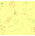 Exotic fruit seamless pattern vector