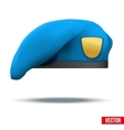 Military light blue beret special forces vector